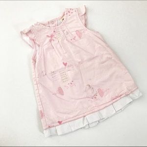 3Pommes Other - 3 Pommes pink dress with hearts and love prints