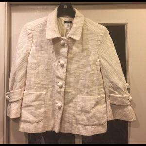 J Crew Waverly Linen Tweed Blazer size 6