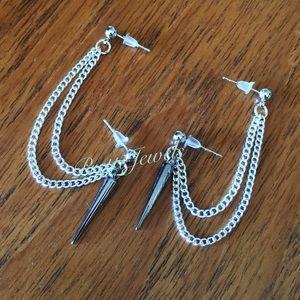 Spike Double Piercing Earrings