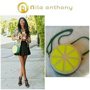 Nila Anthony Handbags - SALE!!  Nila Anthony Lime Handbag Crossbody