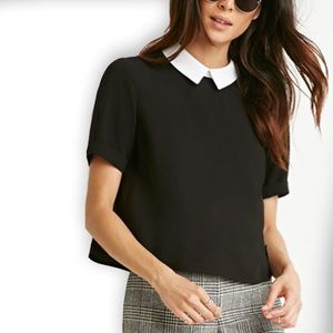 Forever 21 Tops - COLLAR BOXY TOP