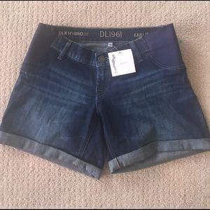 922689fea4 DL1961 Shorts - DL1961 Karlie maternity shorts in Webster wash