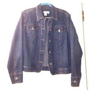 Coldwater Creek Blue Jean Denim Jacket