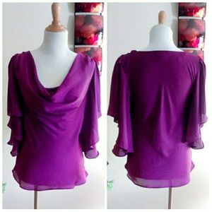 Filtre Tops - 5 for $25 Purple Flutter Sleeve Top