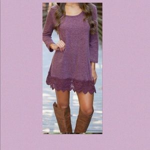 oasap Dresses & Skirts - Purple lace bottom dress