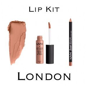 NYX Other - Matte Lip Cream & Suede Liner Nude Kit