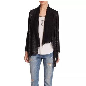 Haute Hippie Jackets & Blazers - HAUTE HIPPIE Draped Black Laser Cut Leather Jacket