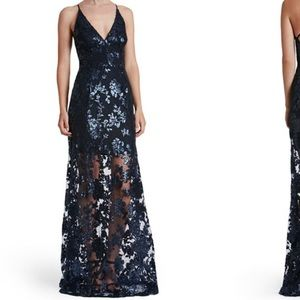 Dress the Population Dresses & Skirts - Crisscross Back, Lace & Sequin Gown, Vivienne