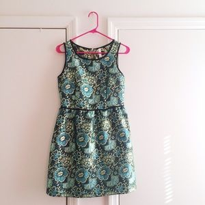 Metallic Floral Dress