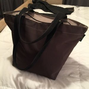 herve chapelier large brown tote
