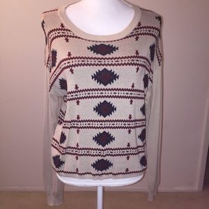 Forever 21 Nordic Fair Isle Print Cropped Sweater