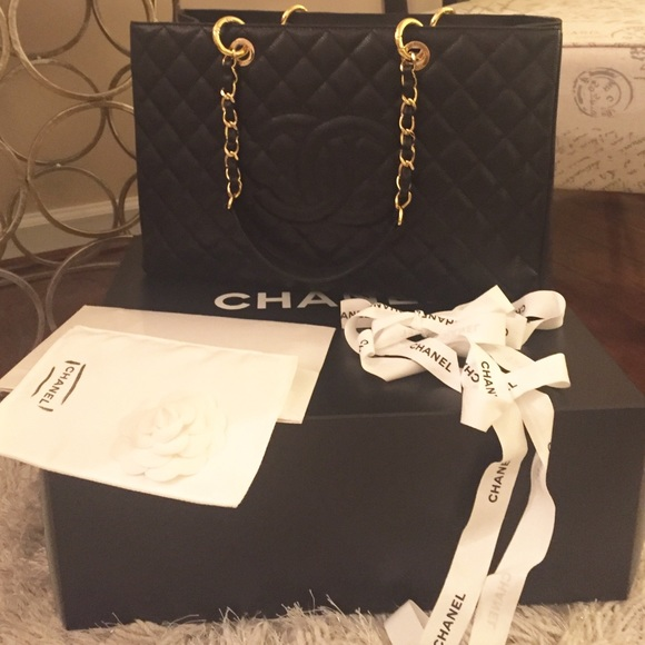 Authentic CHANEL GST XL-Caviar with Gold Hardware 3314924b17184