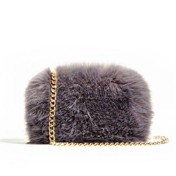 Zara Bags - Zara faux fur mini purse
