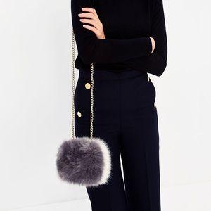 Zara Bags - Zara faux fur mini purse