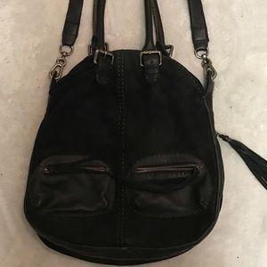 carla mancini Handbags - Beautiful leather & suede black Carla Mancini bag