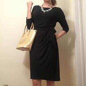 Ann Taylor Black 3/4 Sleeve Dress