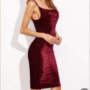 Dresses & Skirts - Sexy Burgandy Velvet Dress