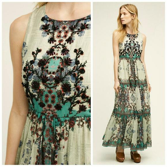 a0f3bfd092ef Anthropologie Dresses | Madera Maxi Dress Bhanuni 0 | Poshmark