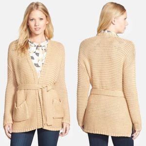 Vince Camuto Belted Texture Stitch Cardigan