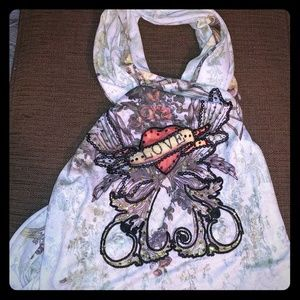 Spy Accessories - Tattoo print embroidered ❤ shawl /wrap