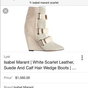 Isabel Marant scarlet white boots