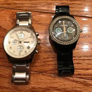 Women's Boyfriend Fossil watches