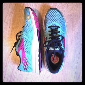 Brooks Shoes - Brooks Launch 3 Aqua and Pink Running Shoes 10
