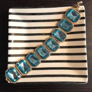 J. Crew Factory Jewelry - ✨J. Crew✨Turquoise Gem Bracelet
