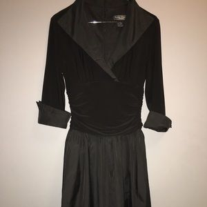 Jessica Howard Evening Black Taffeta Dress Sz 6P