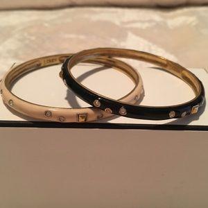 Set of J.Crew Enamel Bracelets with crystal detail