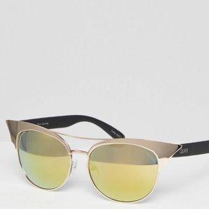 NWT Quay Australia Mirrored Cat Eye Sunglasses