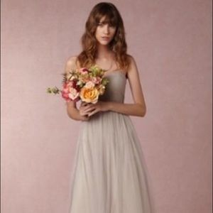 Jenny Yoo Mist Gray Annabelle bridesmaid dress