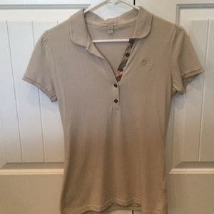 Burberry tan polo, size S.