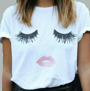 Lashes and Lips  T shirt