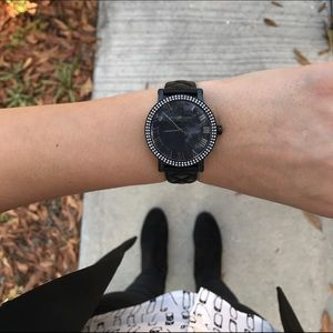 Michael Kors Accessories - NEW Michael Kors Quilted Leather Black Watch