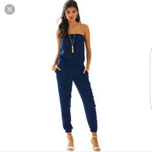 Lilly Pulitzer Emiko Jumpsuit in Navy