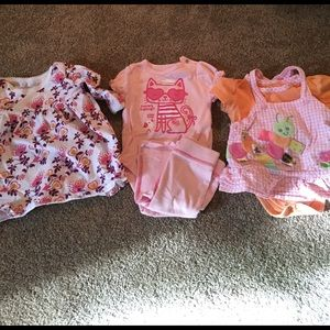 Taggies Other - Bundle of 3-6 month baby girl outfits