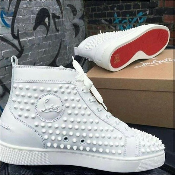 on sale aeedb 643f8 Christian Louboutin White Studded Shoe US 10 EU 43 NWT