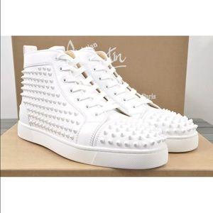 on sale a5ea2 0f024 Christian Louboutin White Studded Shoe US 10 EU 43 NWT