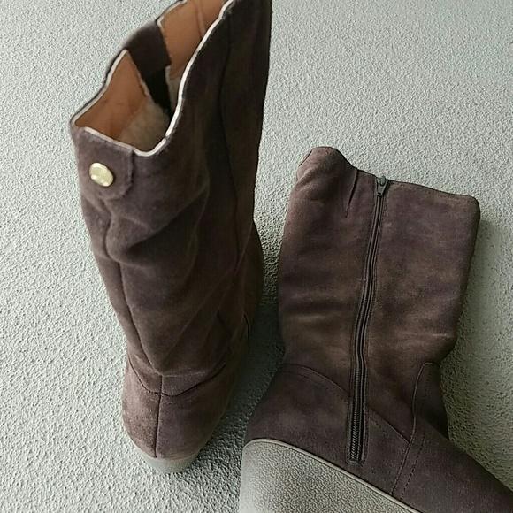 39 lands end shoes lands end wedge suede boots