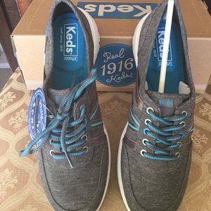 Keds Womens Leather Shoe With Memory Foam