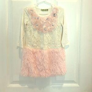 Little Mass Other - EUC beautiful little mass pink and white dress