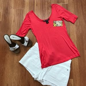 Polly & Esther Tops - NWT Polly & Esther Coral Top