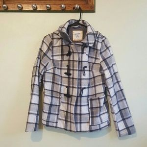 Old Navy plaid Pea Coat/Jacket