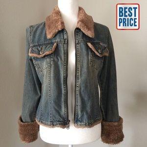 Anchor Blue Jackets & Blazers - Vintage Jean Jacket