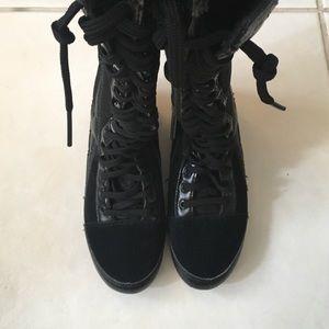 PunkRose Shoes - PunkRose Knee High Combat Sneaker Boots