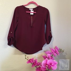 a'gaci Tops - Woven blouse color burgundy