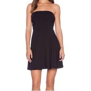 Susana Monaco Tube Gore Dress in Black
