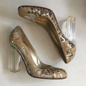 BCBGMaxAzria Shoes - Rare Vintage BCBG MaxAzria Cable Sequined Pumps