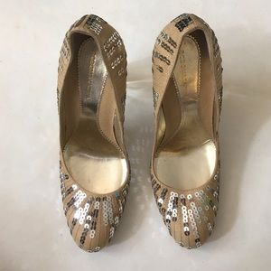 BCBGMaxAzria Shoes - Rare Vintage BCBG MaxAzria Cable Sequined Pumps